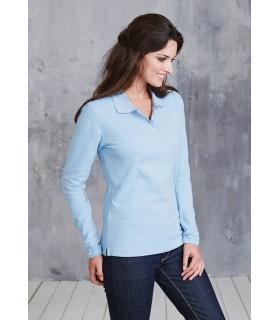 Comprar Polo para mujer K244 manga larga. 100% algodón.