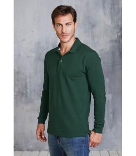 Comprar Polo para hombre K243 manga larga. 100% algodón.