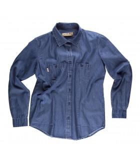 Comprar Camisa B8790 Vaquera de Mujer entallada de manga larga. Workteam