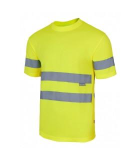 Camiseta técnica 305505 Alta Visibilidad de manga corta. Velilla