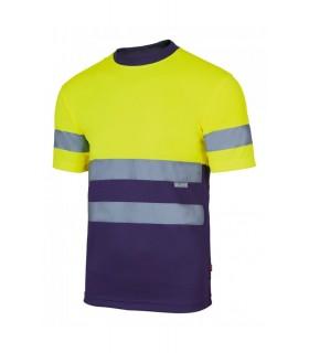 Camiseta técnica 305506 Alta Visibilidad-Combinada de manga corta. Velilla