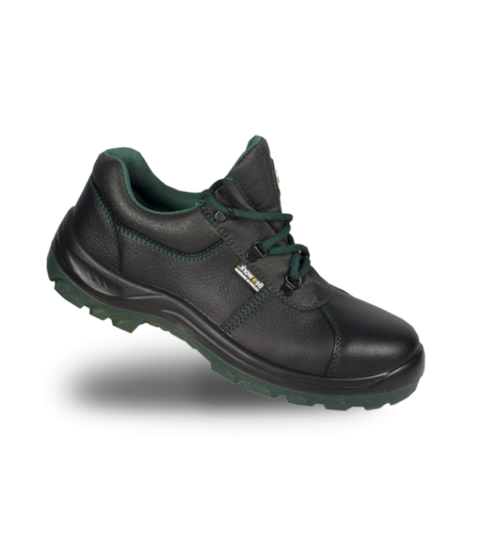 Zapato de piel vacuno VIDAR S3 con puntera y plantilla de acero. BEE WORK