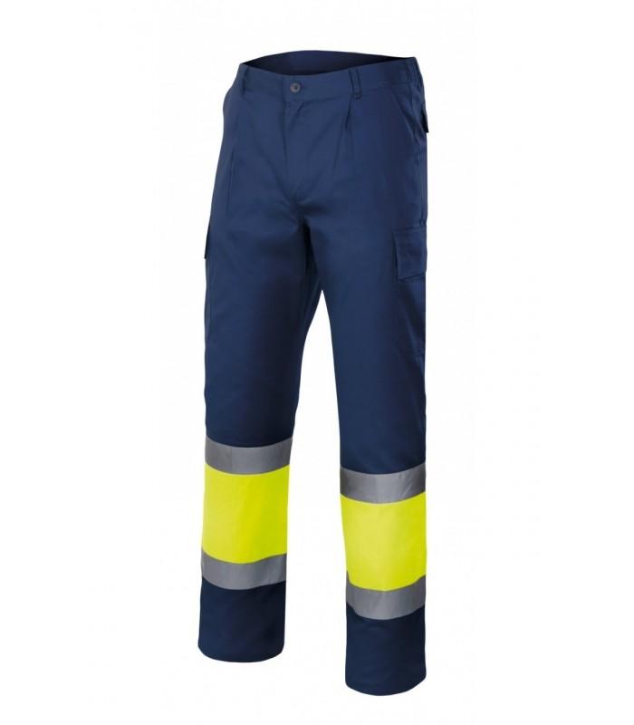 Pantalón 303003 bicolor alta visibilidad. Velilla