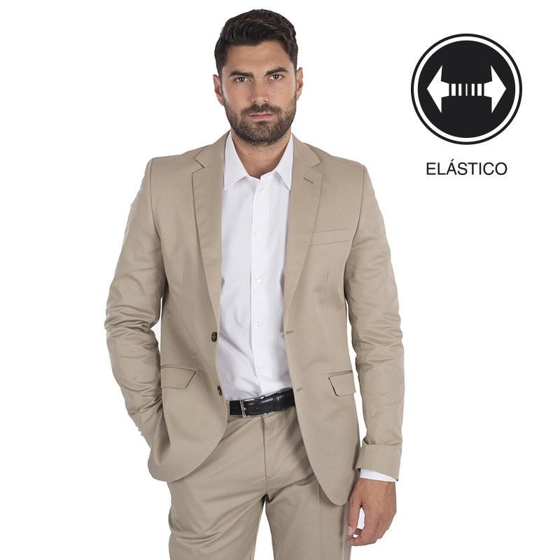 7235cb23a2 Americana 8125 cold de traje para caballero slim fit con dos botones ...