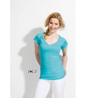 Comprar Camiseta 11387 de mujer con cuello en pico. Sols