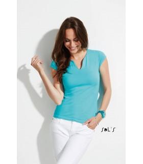 Comprar Camiseta 11165 de mujer con cuello fantasía. Sols