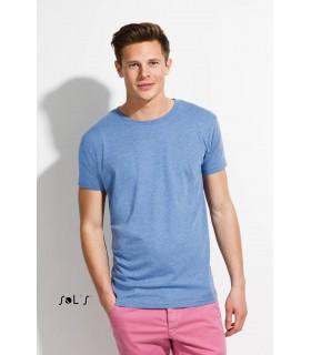 Comprar Camiseta 01182 de hombre Jaspeada de manga corta. Sols