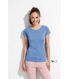 Comprar Camiseta 01181 Jaspeada de mujer con cuello redondo. Sols