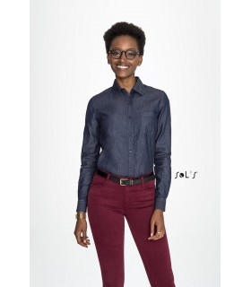 Comprar Camisa BARRY WOMEN 02101 Vaquera de manga larga SOL´S