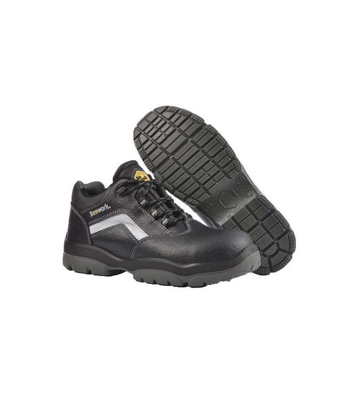 Zapato de piel vacuno ANUBIS S3 con puntera y plantilla no metálica. BEE WORK