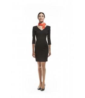 Comprar Vestido V005 cuello en pico y manga 3/4. Dacobel