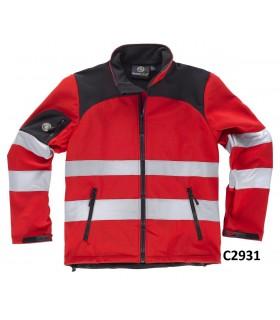 Comprar Chaqueta C2931 con tejido Work Shell. Cuello alto. Alta Visibilidad. Workteam