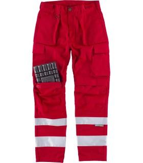 Comprar Pantalón C2911 recto, multibolsillos. Reforzado con cintas reflectantes. Workteam