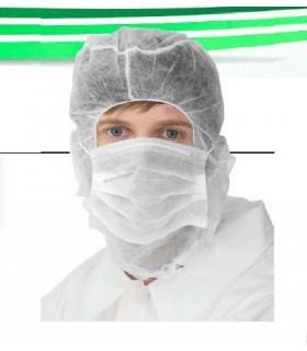 Comprar 500 uds. Gorro integral con mascarilla en TST de Polipropileno- IBP