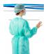 100 uds. Bata de protección en TST de polipropileno con cierre dorsal con cintas. IBP