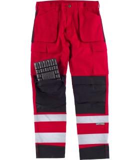 Comprar Pantalón C2913 de alta visibilidad Rojo con Reflectante. Multibolsillos. Workteam