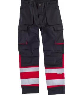 Comprar Pantalón C2919 de alta visibilidad Rojo. Reflectante. Multibolsillos. Workteam