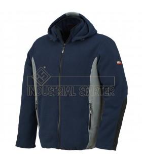 Comprar Forro Polar 04073 BOH bicolor antipilling con la capucha desmontable. Issa Line