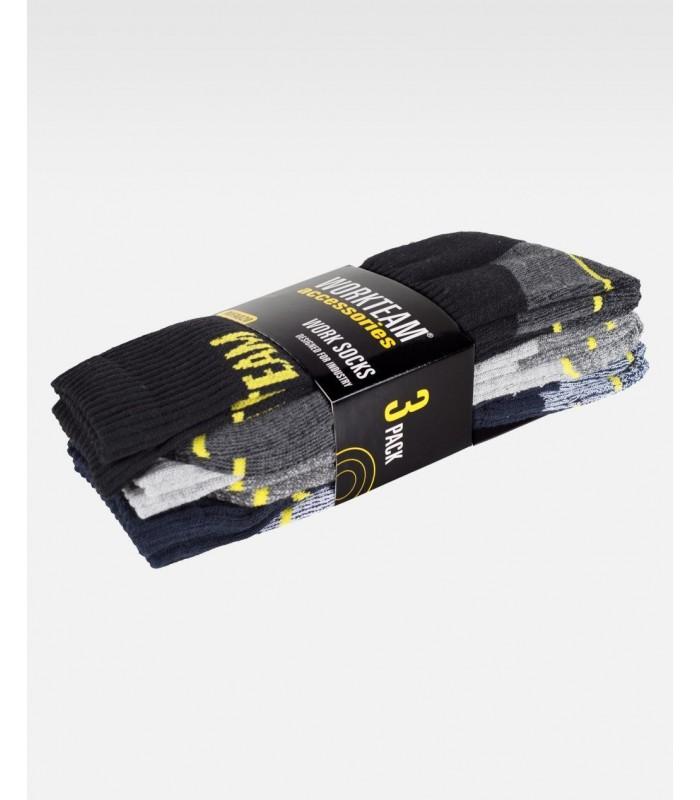 Calcetines WFA020 combinados. PACK DE 3 PARES. Workteam