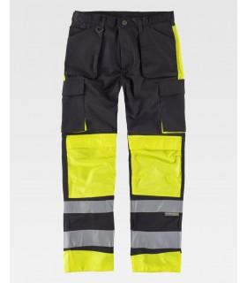 Comprar Pantalón C2914 de alta visibilidad Combinado con Reflectante. Multibolsillos. Workteam