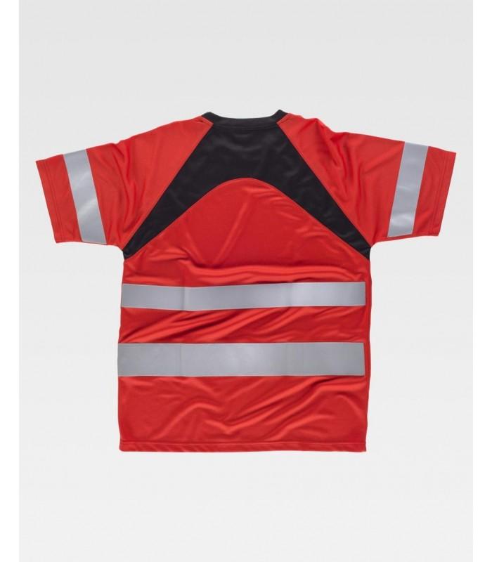 Camiseta C2940 de manga corta, reflectante y Sin bolsillos. Workteam