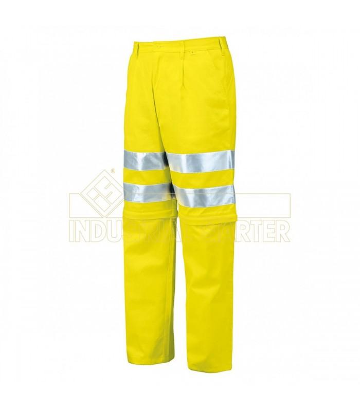 Pantalón 8460 desmontable de alta visibilidad certificado. Issa Line