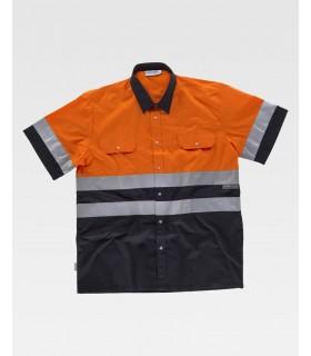Camisa C3811 Reflectante de manga corta con cierre de botones. Workteam 5ad1d3e31a57d