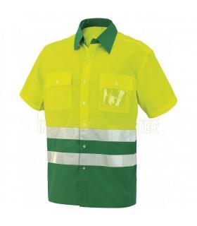 Comprar Camisa 8561 de manga corta bicolor de alta visibilidad. Issa Line