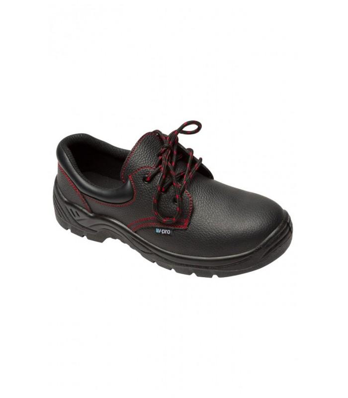 Zapato Z200A de piel de flor con puntera de acero. Velilla