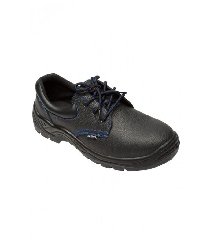 Zapato Z270A de piel flor hidrofugada con plantilla y puntera de acero. Velilla