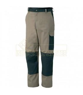 Comprar Pantalón 8330 bicolor con porta rodilleras de 100% Algodón. Issa Line