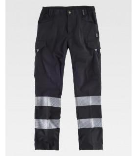 Comprar Pantalón C2717 de alta visibilidad Negro con Reflectante. Workteam