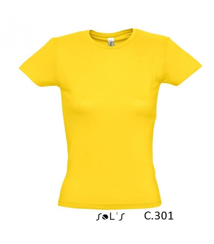 Camiseta 11386 MISS de mujer con cuello redondo. Sols