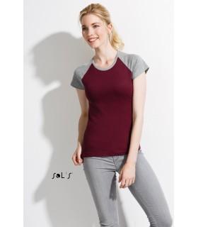 Comprar Camiseta 11195 de mujer bicolor de manga corta. Sols