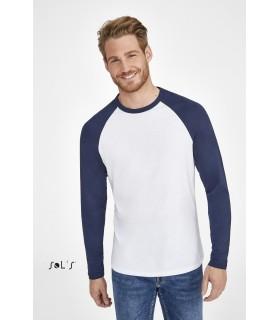 Comprar Camiseta 02942 de hombre bicolor de manga larga. Sols