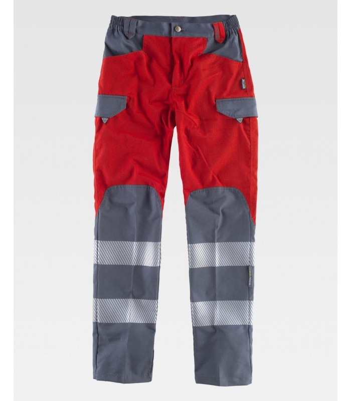 Pantalón C2716 multibolsillos de alta visibilidad. Workteam
