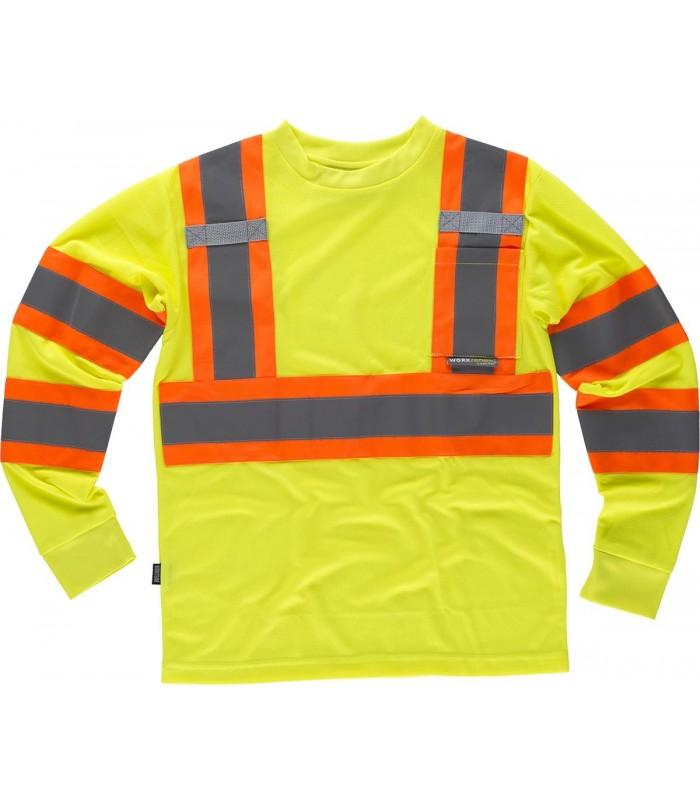 Camiseta C3633 de manga larga de Alta Visibilidad. Workteam
