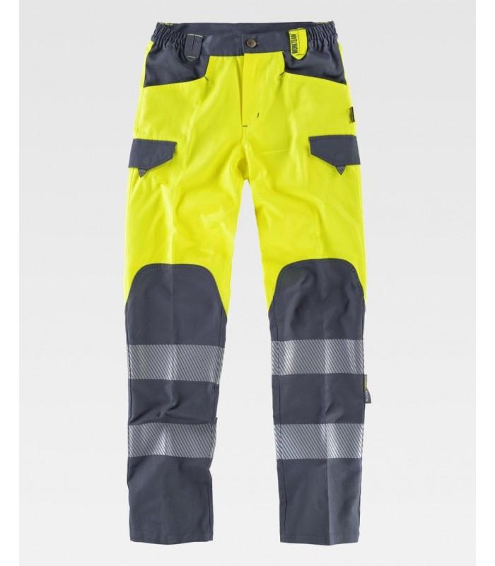 Pantalón C2715 con cintas reflectantes combinado. Workteam