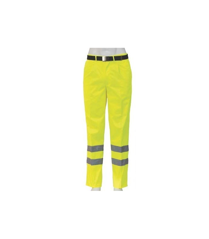 Pantalón 10372 de alta visibilidad con bandas reflectantes. Seana
