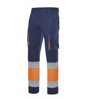 Pantalón 303007 100% Algodón bicolor de alta visibilidad. Velilla
