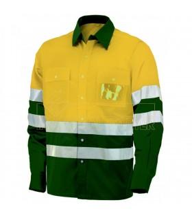 Comprar Camisa 8560 de manga larga bicolor de alta visibilidad. Issa Line