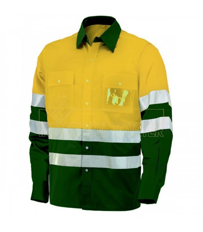 Camisa 8560 de manga larga bicolor de alta visibilidad. Issa Line