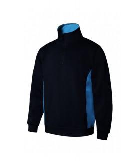 Comprar Sudadera 105704 BICOLOR de media cremallera con cuello alto. Velilla