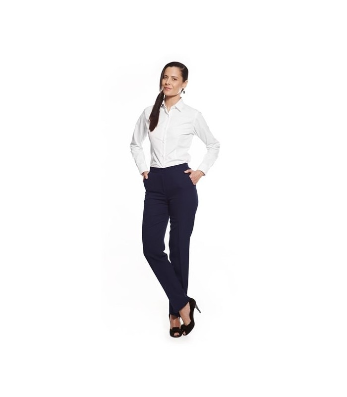 Pantalón S19-6179 de traje con goma para señora. Dacobel