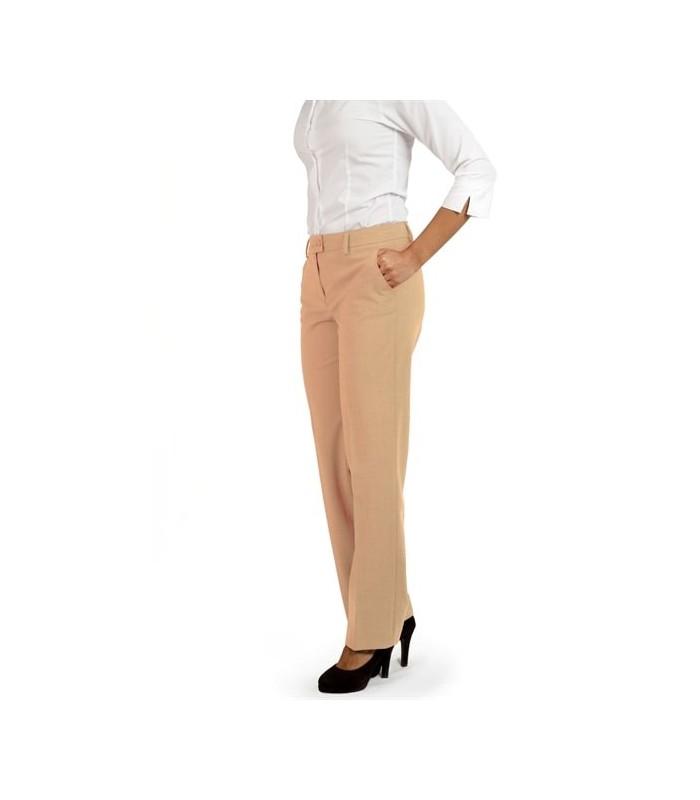 Pantalón S-10-2009 de traje para señora sin pinzas. Bengalina. Dacobel
