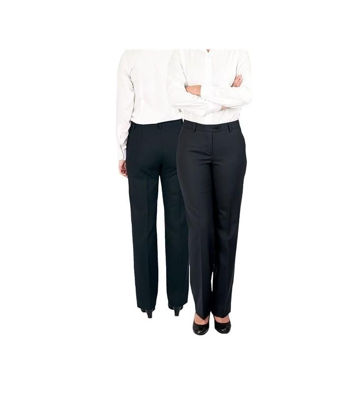 Pantalón S-10-6180 de traje para señora sin pinzas. Strech. Dacobel
