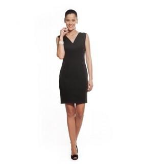 Comprar Vestido V003 cuello en pico y sin mangas. Dacobel