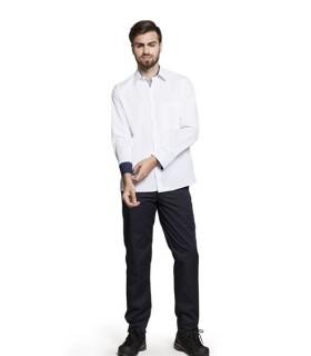 Camisa Poniente combinada de hombre con manga larga. Adversia