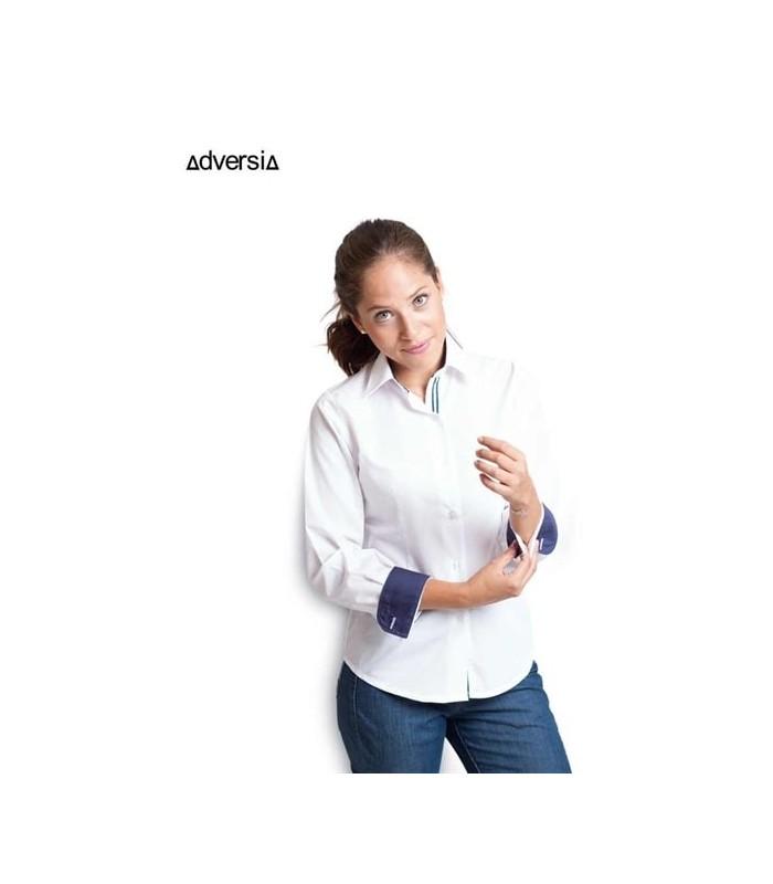 Blusa Calma combinada para mujer de manga larga. Adversia