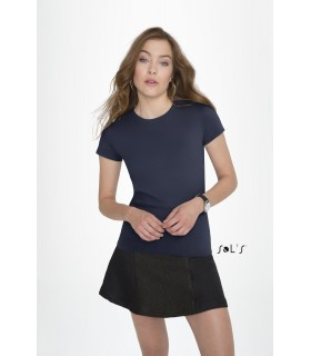 Comprar Camiseta 02080 Imperial Fit de MUJER con cuello redondo. Sols